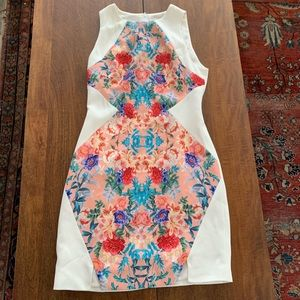 Keepsake the label sheath floral dress sleeveless